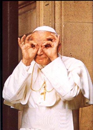Una foto no muy conocida del histriónico Papa