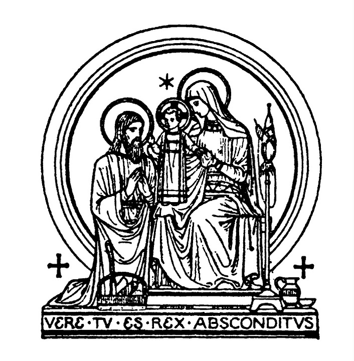 Moderno Sagrada Familia Para Colorear Ornamento - Dibujos Para ...