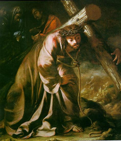Resultado de imagen para Jesús con la cruz a cuestas