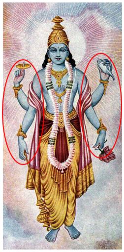 14) Vishnu cuatro brazos