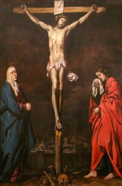 cristo maria y juan Calvario de la Inquisición, Museo de Bellas Artes de Córdo