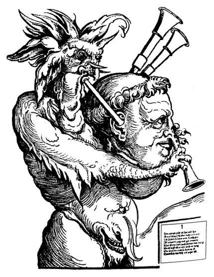 El_Demonio_con_gaita_(grabado_de_Erhard_Schön,1525)