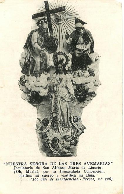 nuestra señora de las tres avemaria