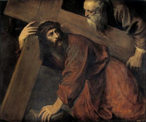 Cristo camino del calvario, 1560. Tiziano.óleo sobre lienzo. 98 cm x 116 cmMuseo del Prado.