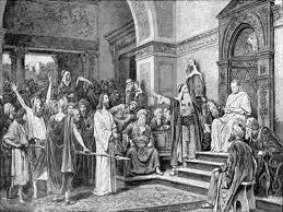 Jesús ante Pilato y Herodes