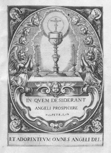 Atribuido a Francisco o Bernardo Heylan. Ángeles adorando al Santísimo Sacramento