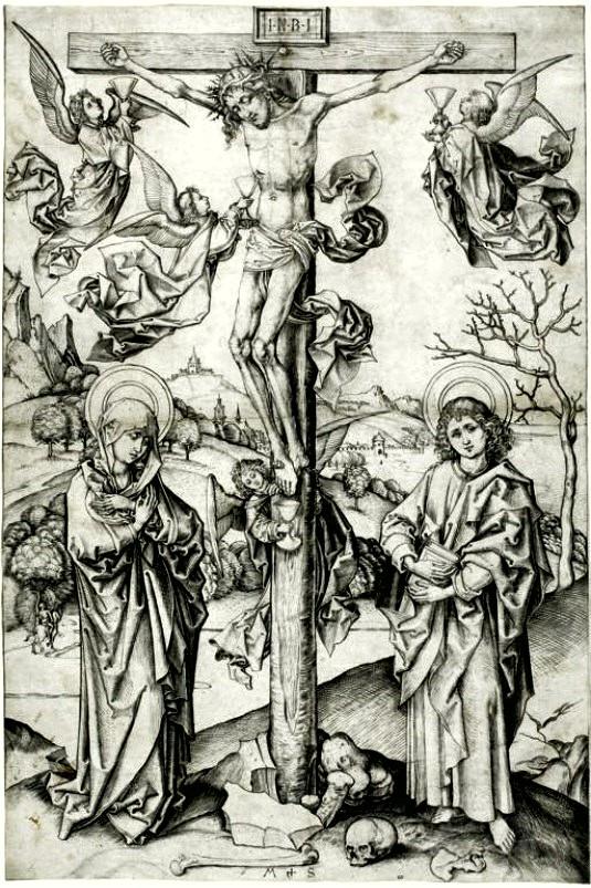 martin-schongauer-crucifixic3b3n-con-cuatro-c3a1ngeles