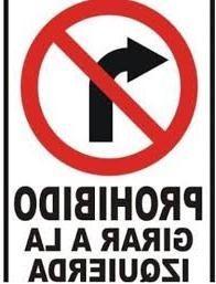 prhibido girar a la izquierda